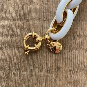 J. Crew Jewelry - J Crew white and gold bracelet Never been worn!